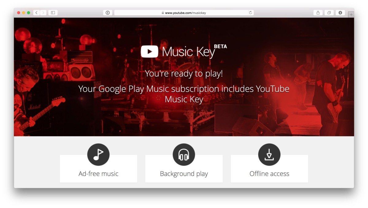 Google Play Music also gives you YouTube Music Key access.
