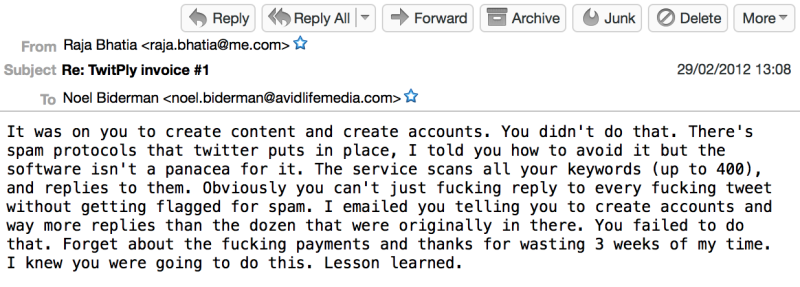 Emails between Ashley Madison's founder and CTO see them trying to figure out how to effectively spam Twitter