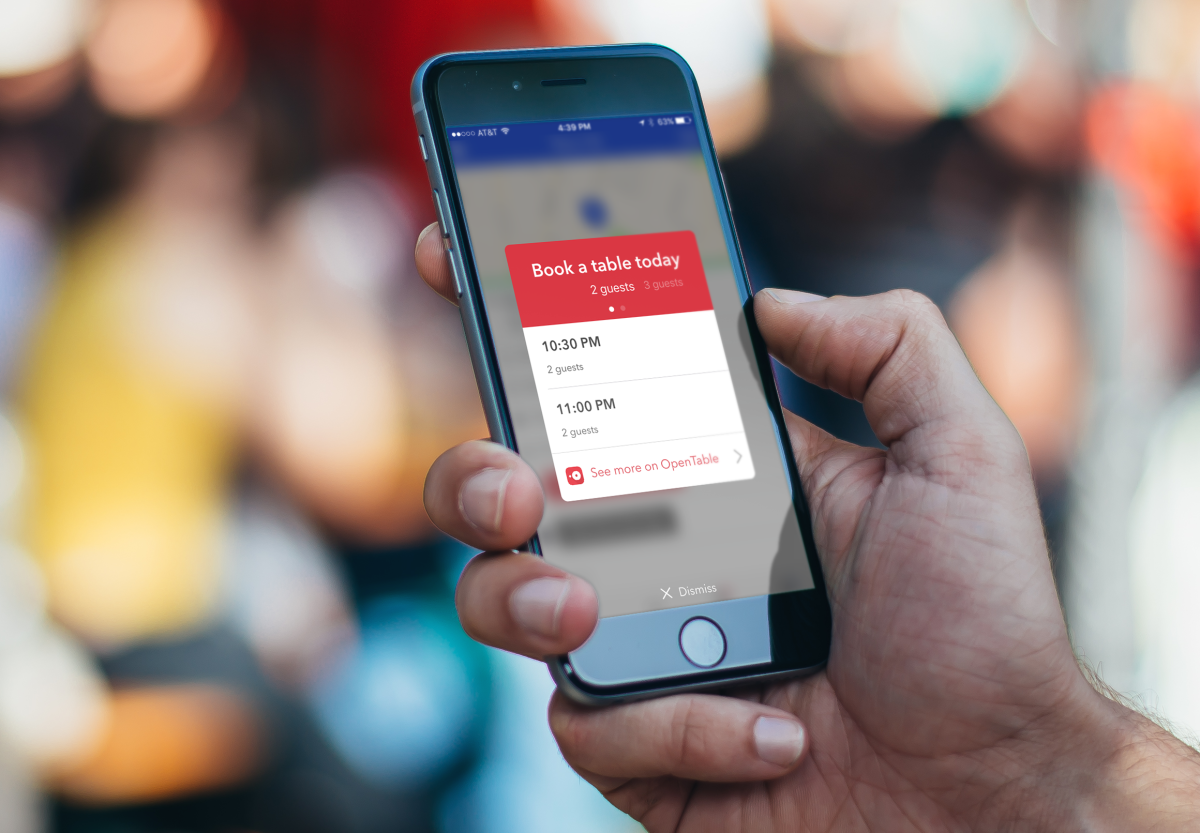 Foursquare Now Lets You Make OpenTable Reservations Without Leaving - Table reservation app