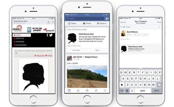 Facebook will now broadcast missing children alerts in the UK