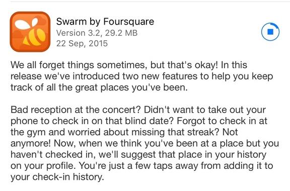 foursquare late check in
