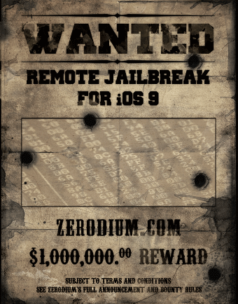 Zerodium iOS 9 Bounty