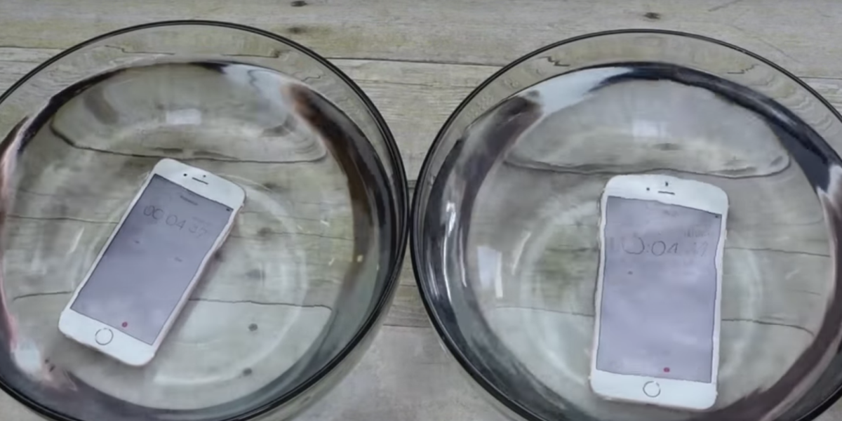 The videos showing the iPhone 6s as 'waterproof' don't help much in the real world