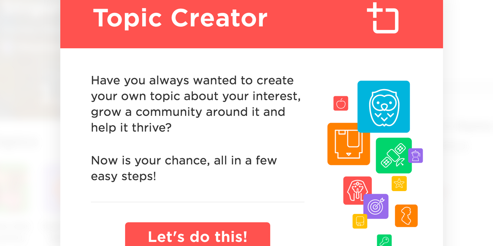 My QuizUp' lets you set your own trivia categories and questions