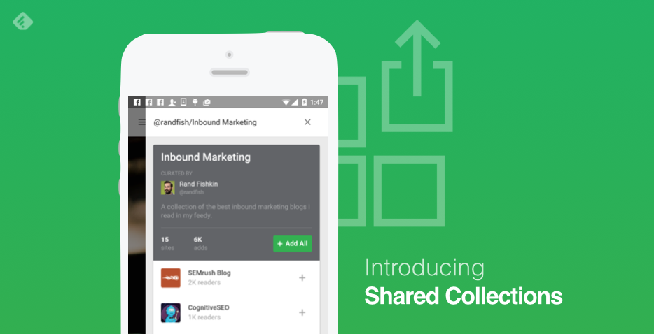 Feedly's new Shared Collections makes your reading list public