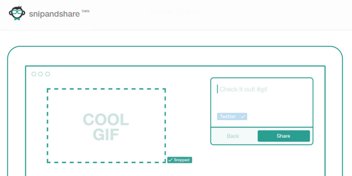 Snip and Share for Chrome makes it simple to post GIFs, videos, an entire Web page and more