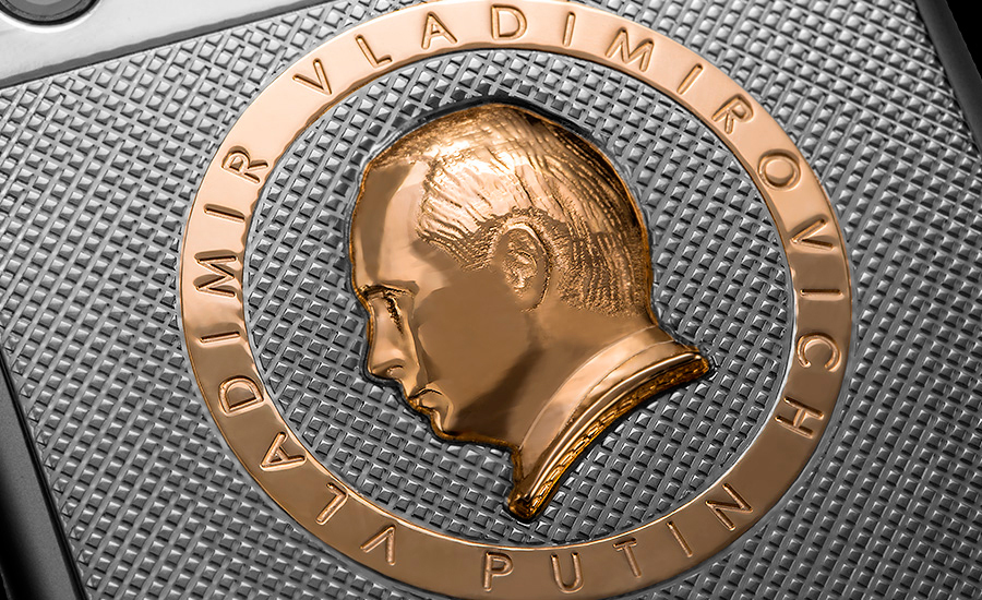 You can get an iPhone 6s with Putin's gold head on it because reasons