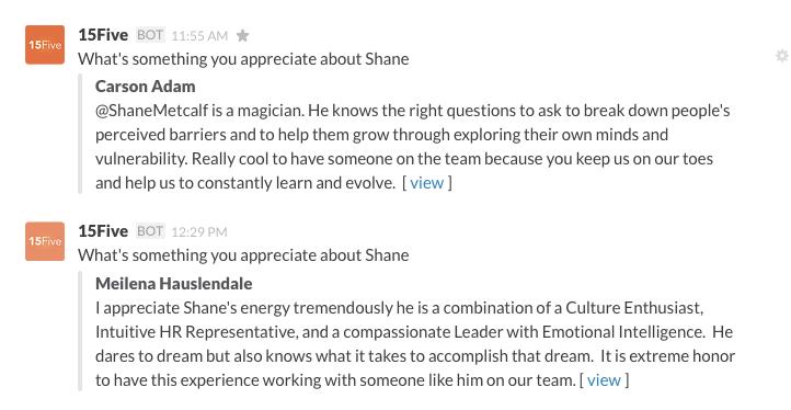 Appreciate Shane