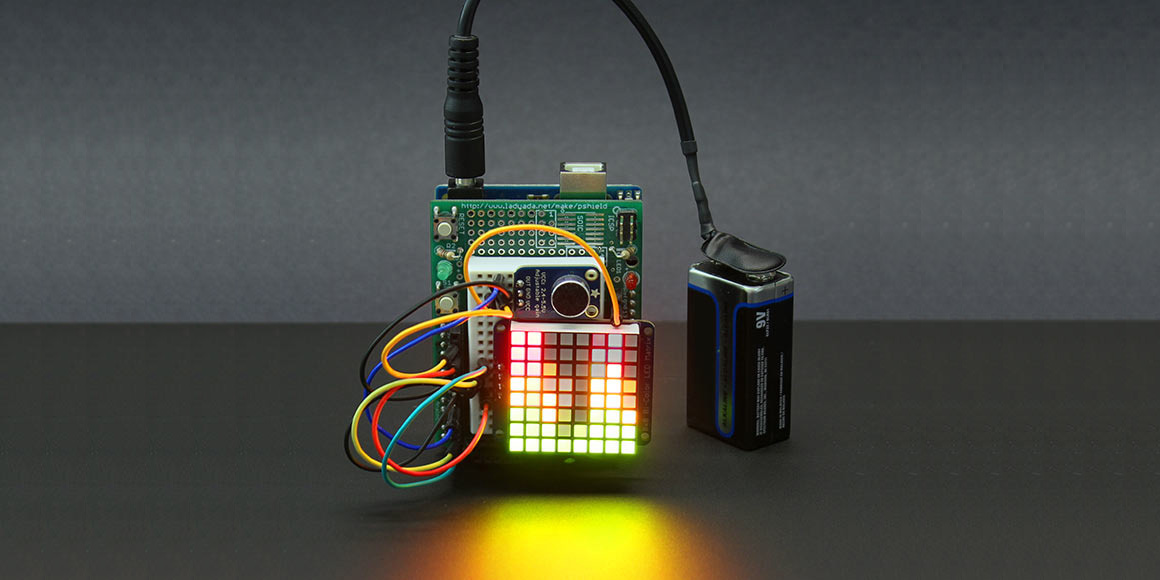 This DIY Arduino-based visualizer grooves to music playing around you