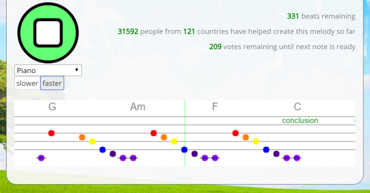 This is what happens when 30,000 people try to compose a single song (it's pretty good!)