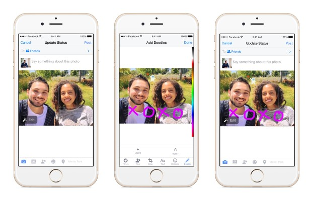 Facebook is bringing Messenger's Doodle image editing to its main app