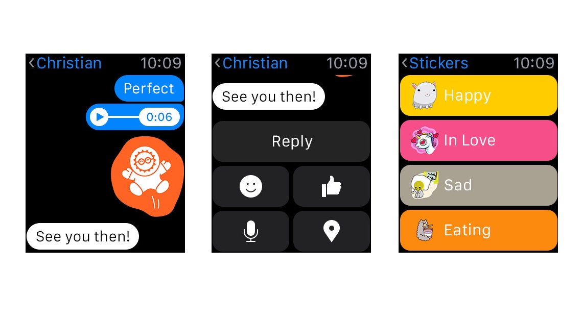 Facebook Messenger is now available for the Apple Watch