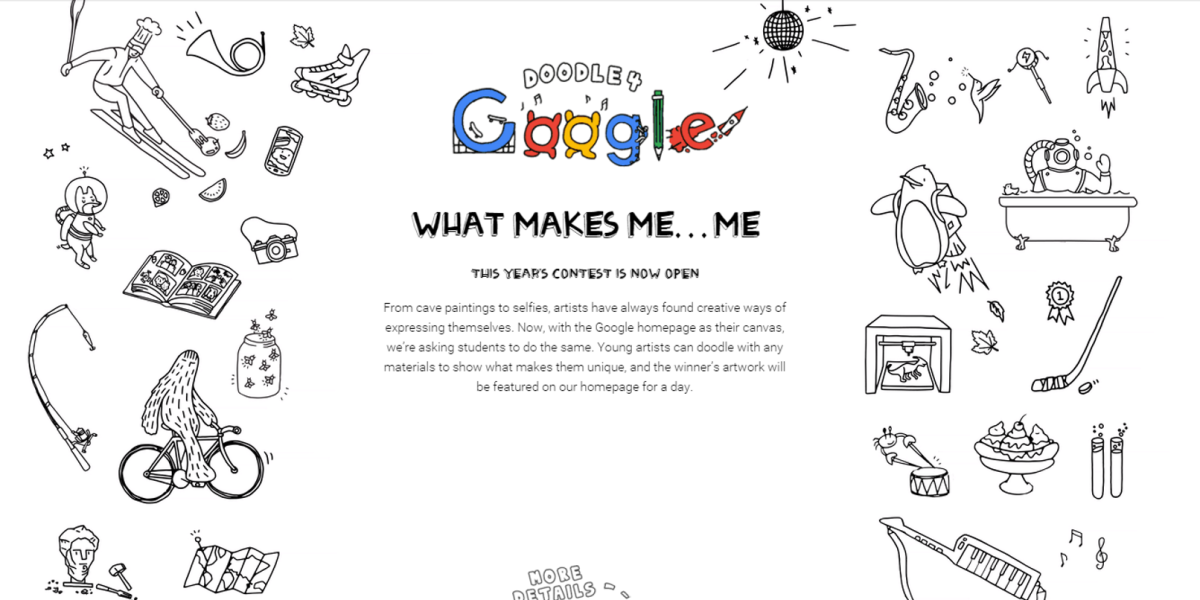 Google's Doodle competition opens, this time letting students use any material they want