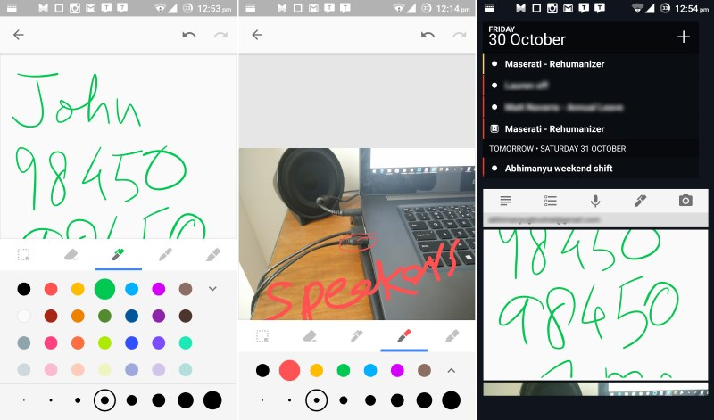 Keep now offers basic drawing and annotation tools and lets you view graphic notes on its widget