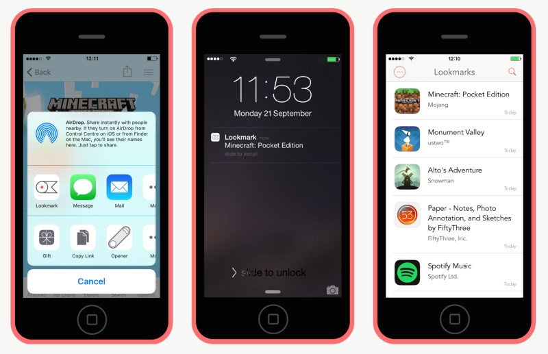 Lookmark lets you add apps (even free ones) to a wish list to download when convenient