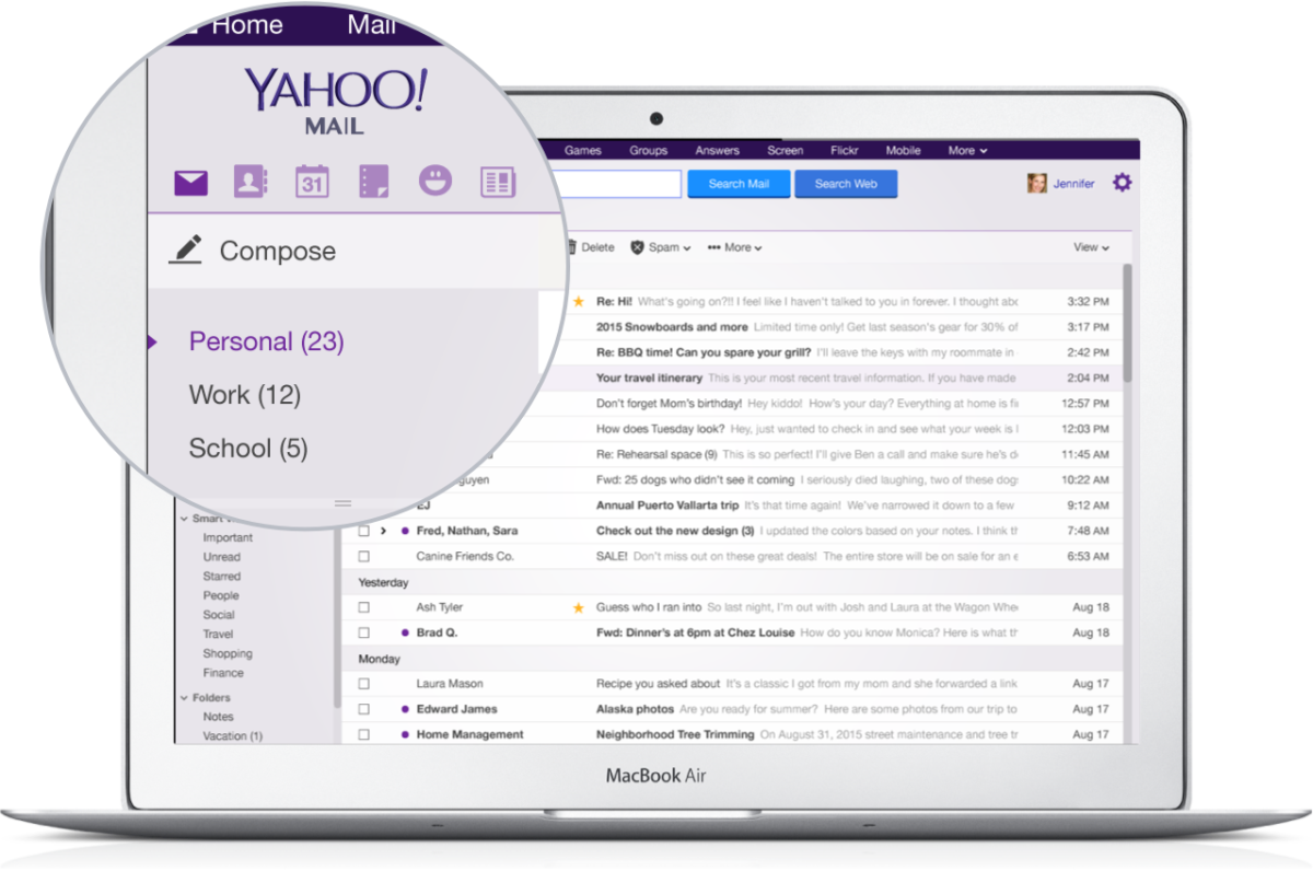 Yahoo mail gets a new look and no need to use a password multiple mailboxesaccount view on desktop buycottarizona Gallery