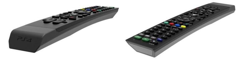 PS4 remote horizontal