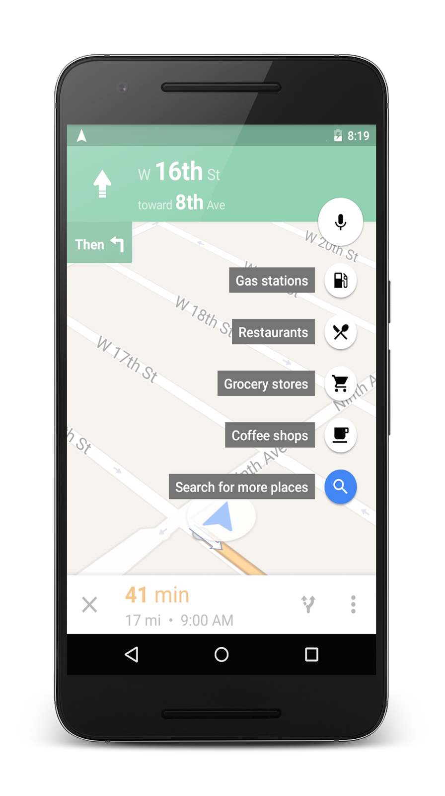 Google Maps for Android adds navigation detours cheapest gas nearby