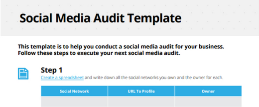 How To Do A Social Media Audit - Social media report template excel