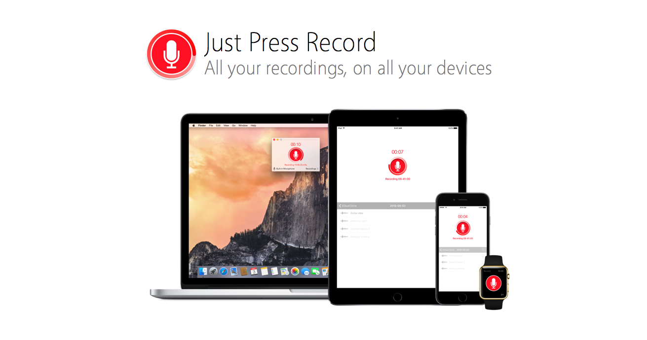 Just Press Record could be your perfect voice recording app