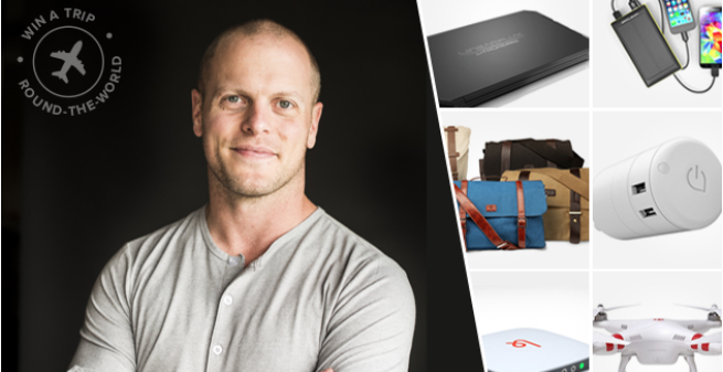 Win an incredible round-the-world trip worth $4,000 and meet Tim Ferriss!