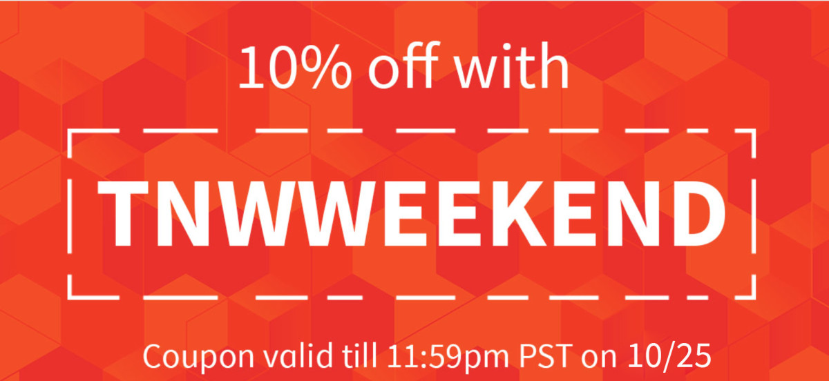 For this weekend only, get 10% off EVERYTHING in the TNW Deals store