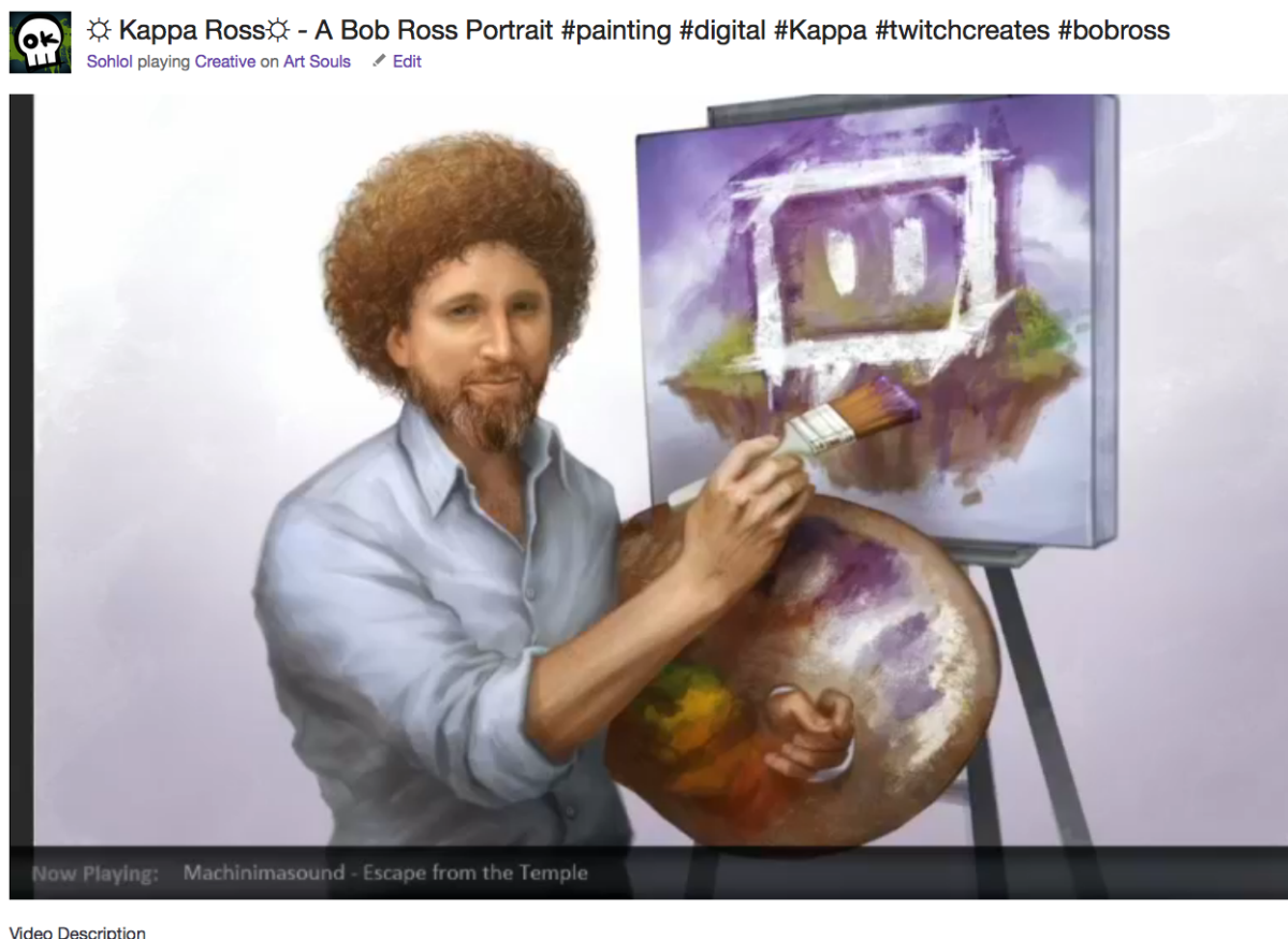 Twitch expands its Creative channel, now streaming Bob Ross' 'Joy of Painting'