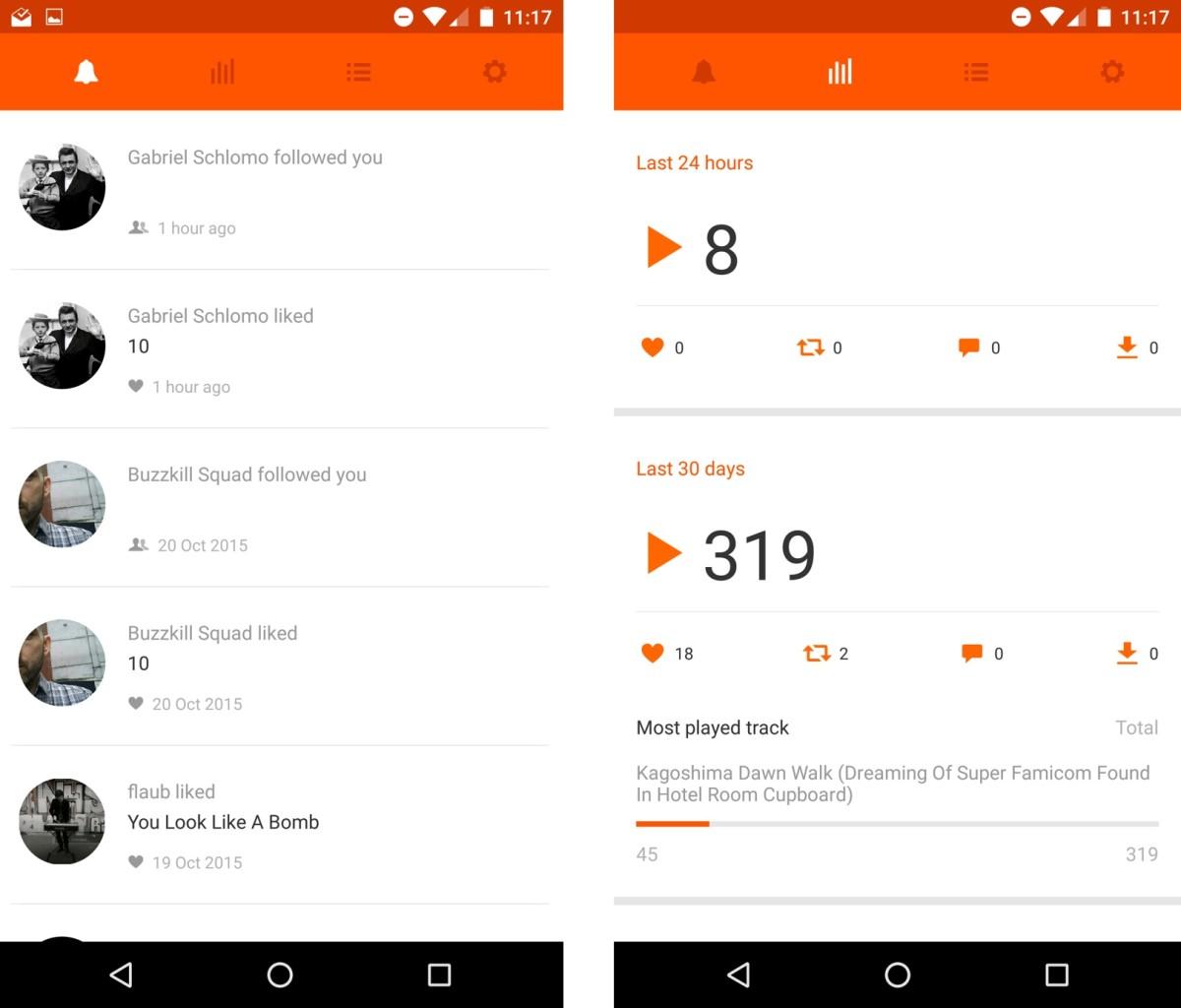 SoundCloud Pulse screenshots