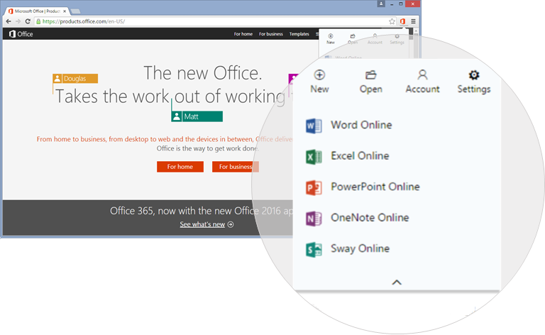 Office and Outlook Online now let you video chat with Skype and create new docs via Chrome
