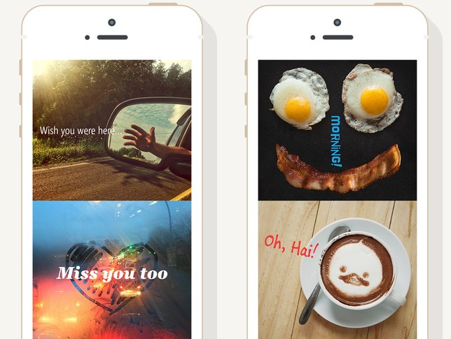 Twist lets you mash up photos and images and juxtapose them in group conversations