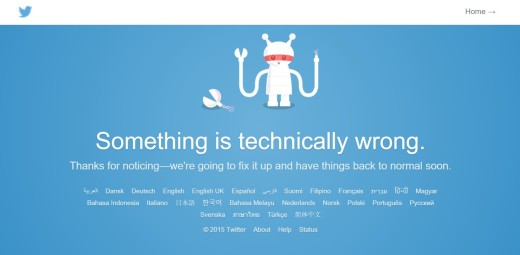 Twitter is down something techinically wrong