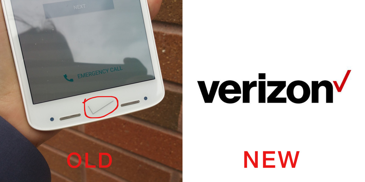 Verizon completely forgot to use its new logo on the Droid Turbo 2