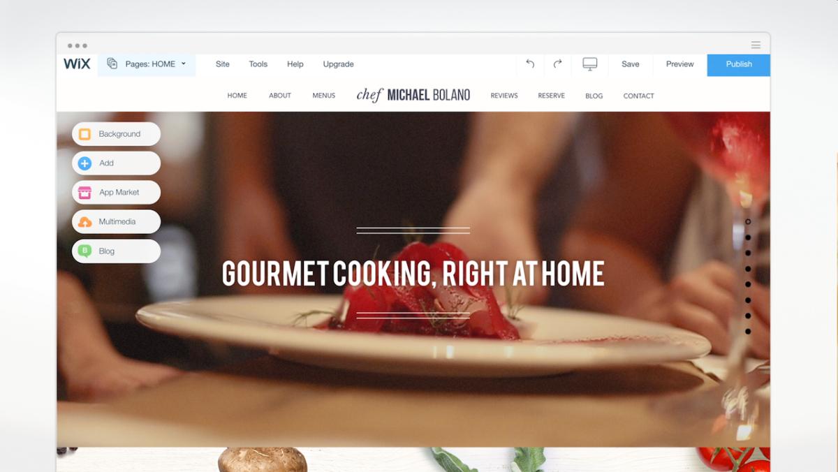 Wix 39 s redesigned website design editor also added some for Website layout maker