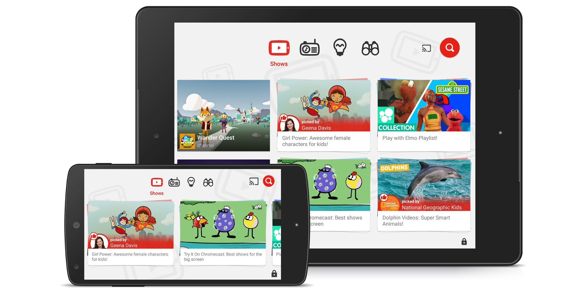 YouTube Kids gets Chromecast support and curated playlists