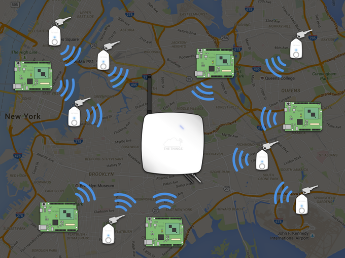 Spreading Internet of Things networks across cities worldwide