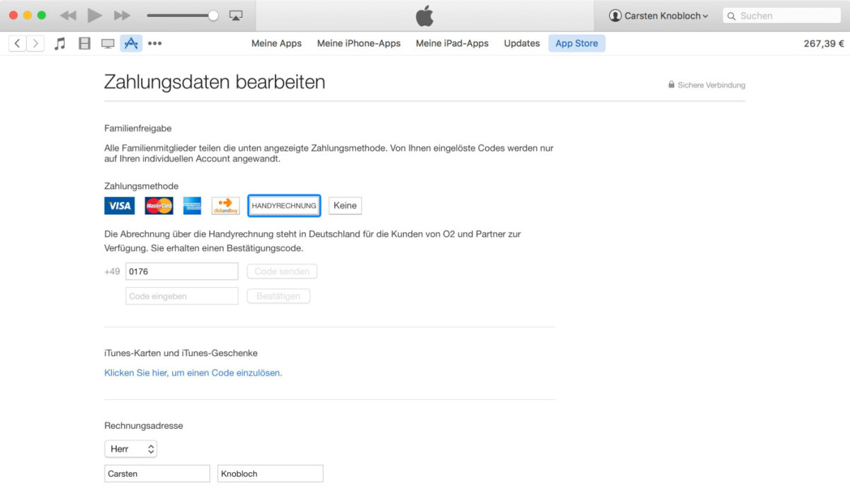Apple now lets German customers pay for iTunes purchases via their mobile bill