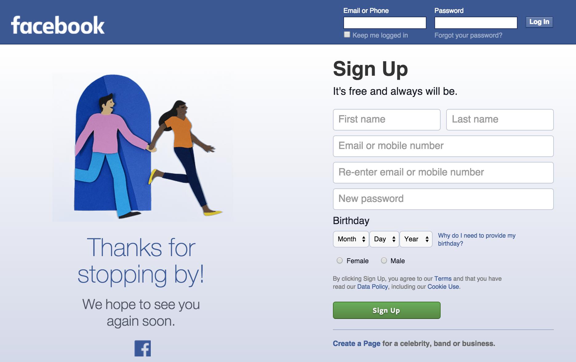 facebook log off