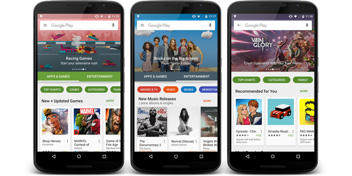 google play store design overhaul rolls out gradually to android devices worldwide