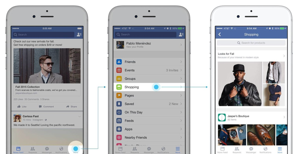 Facebook adds a shopping section in trial for big e-commerce push