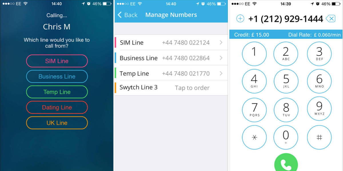 Swytch lets you use up to five 'burner' UK phone numbers from a single device