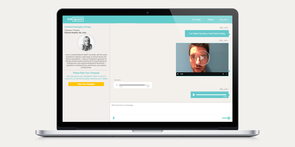 Talkspace now lets you send audio and video messages to your e-therapist