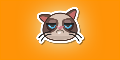 Grumpy Cat and Swarm team up to help save stray kittens every time you check-in