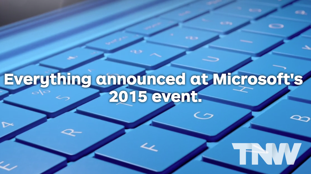 Everything Microsoft announced at its devices event in one handy list