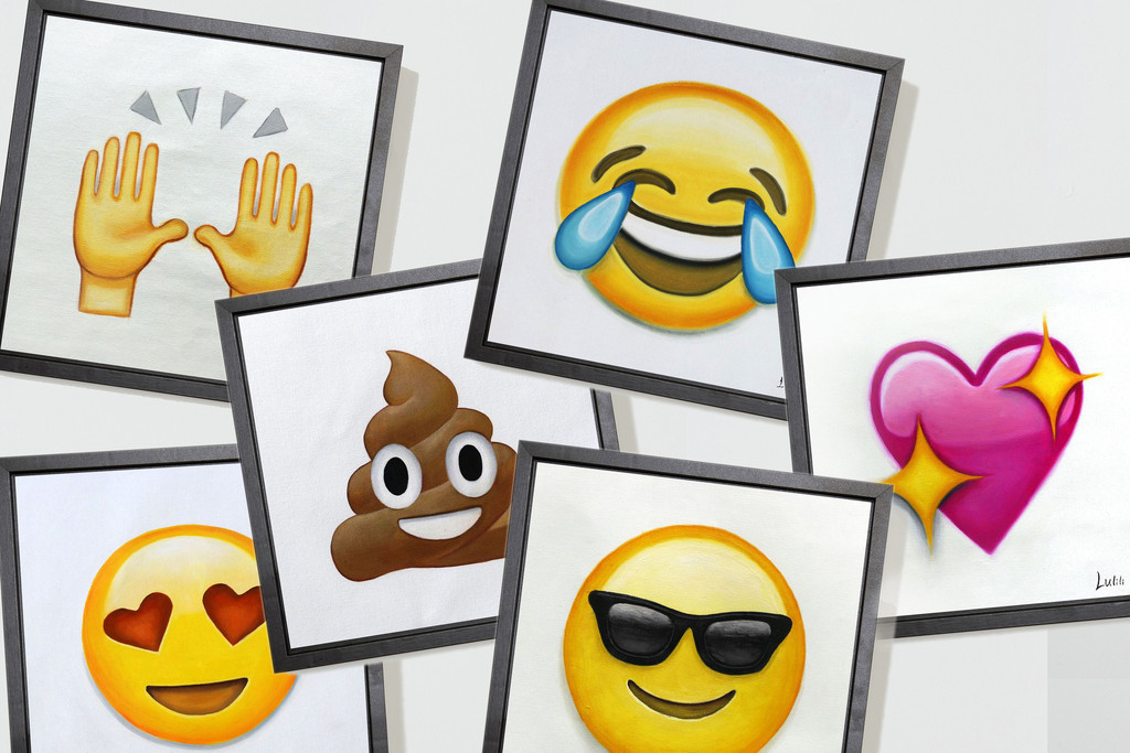 Emoji Oil Paintings are 'artisanal as heck'