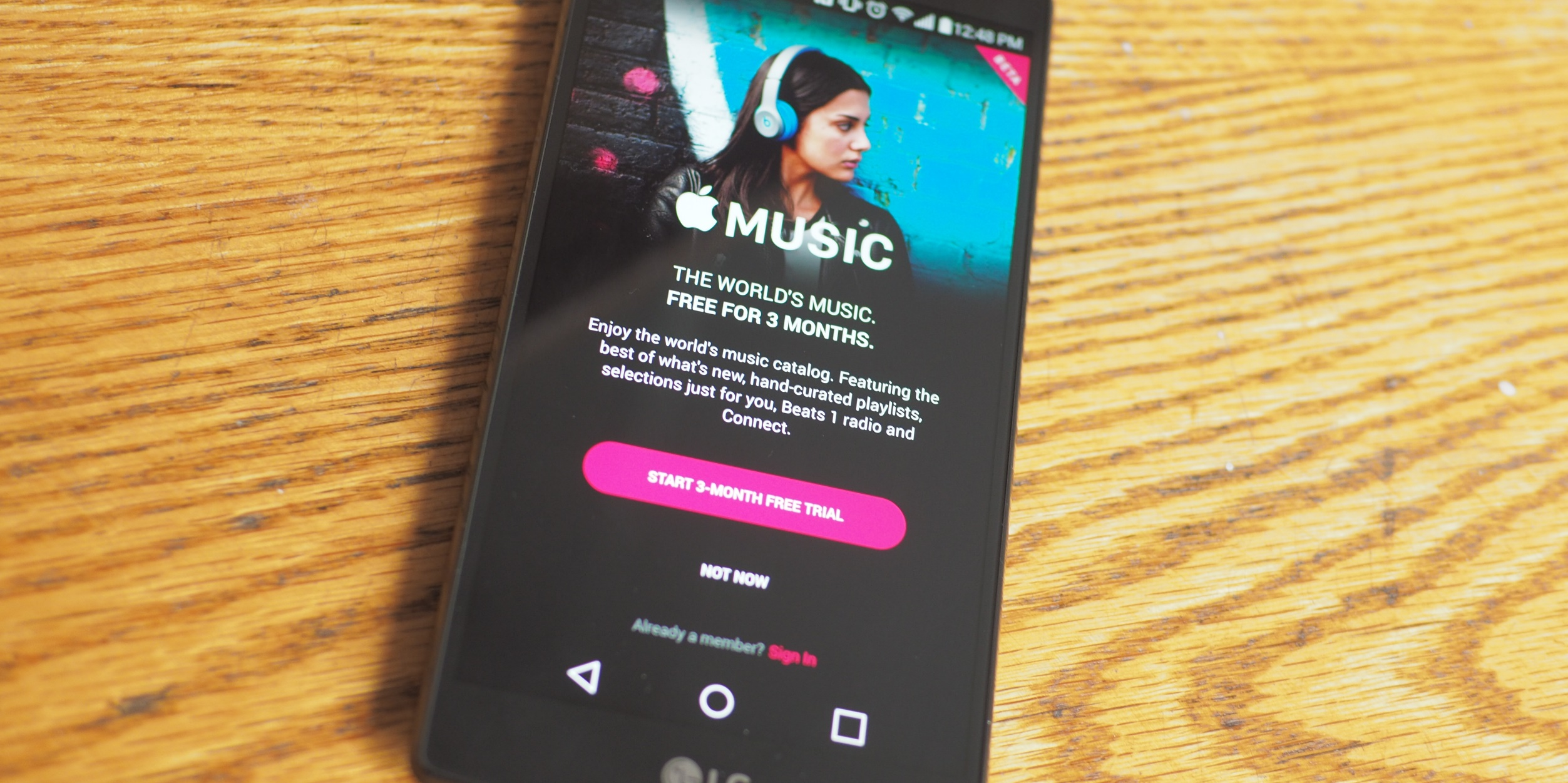 Apple Music Android Wood