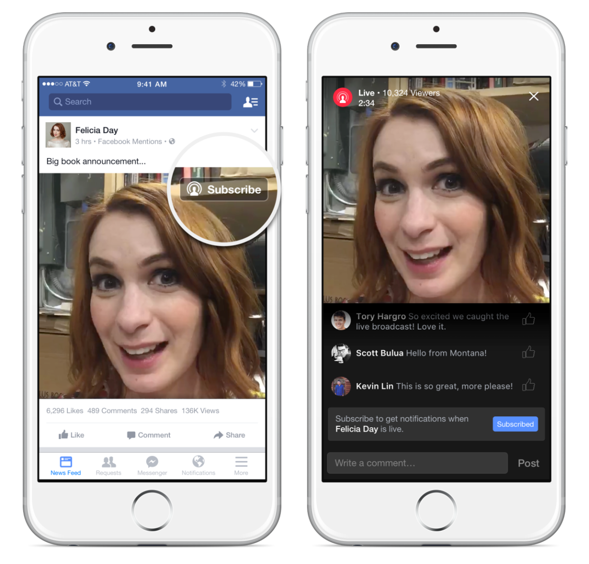 Facebook will now tell you when your favorite celebrity starts a livestream