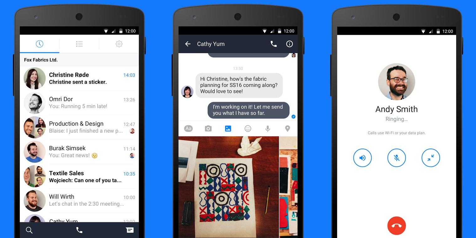 facebook at work gets a messaging app on android. Black Bedroom Furniture Sets. Home Design Ideas