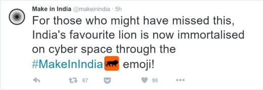 India's #MakeInIndia campaign gets its own emoji on Twitter
