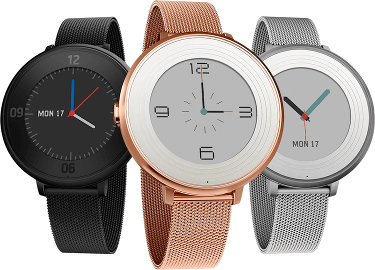 The Pebble Time Round weighs only 28g and offers two days of battery life