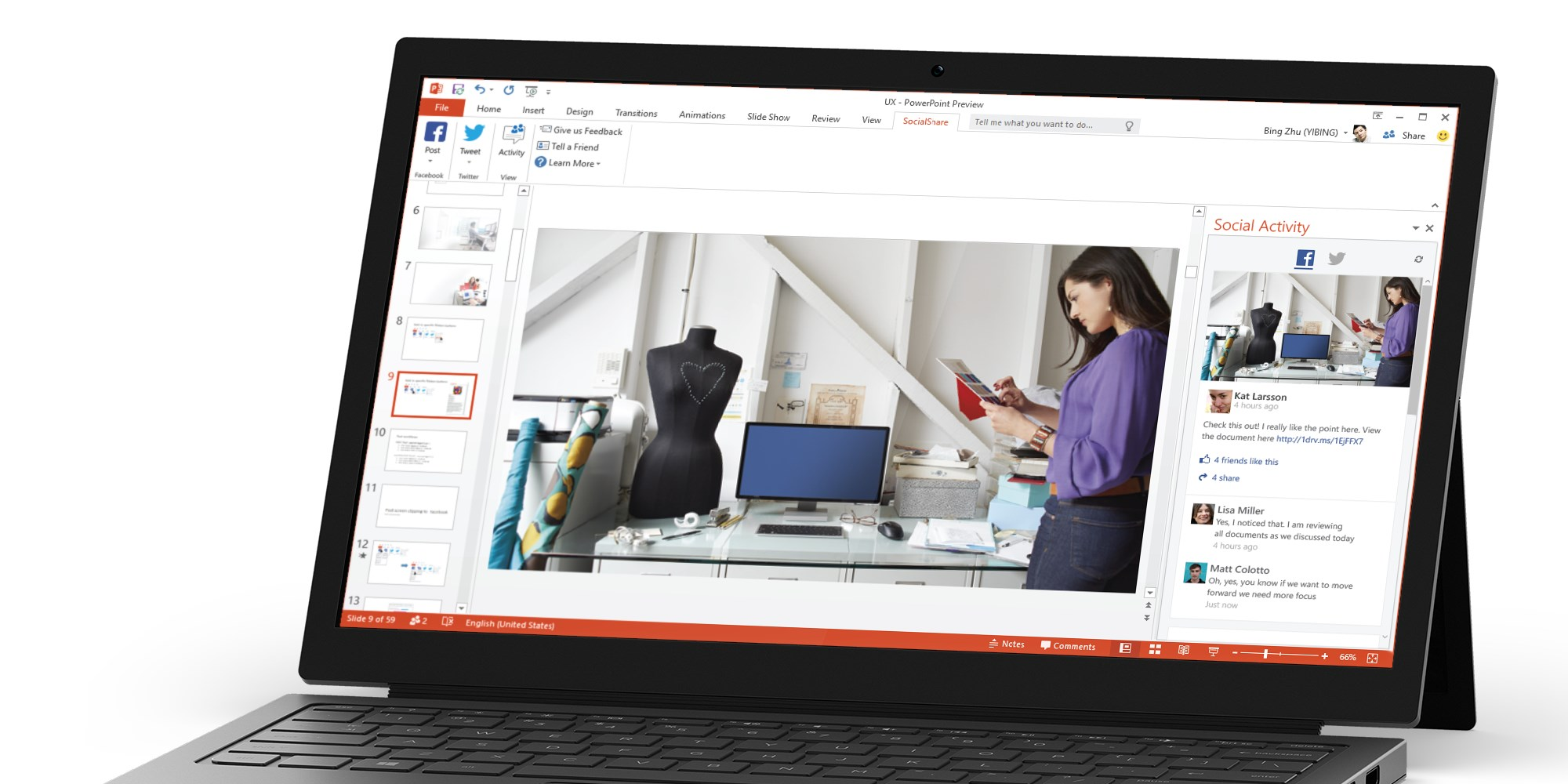 You can now share PowerPoint slides as photos and videos